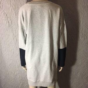 Madewell Dresses - Madwell Gray Color Block Jumpstart Sweater Dress